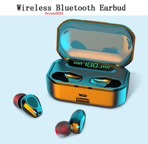 Bluetooth Headset Touch Digital Display Wireless Earphone TWS Binaural Sports Mini In-ear Earbuds With Retail Box