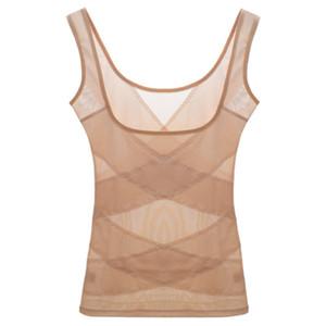 Women Waist Trainer Bodysuit Full Body Shaper Vest Breathable mesh support chest gather underwear seamless body shaping vest