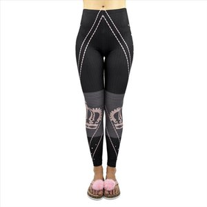 New Arrivals Hot Black Strips Forever Princess Printing Workout Legging Stretch Leggings Sexy Pants Drop Shipping