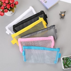 Net Yarn Pencil Case High Capacity Pencil Bag Novelty Student Pen Case Simple Stationery Kawaii Bag Kawaii School Supplies Q wmtJOY