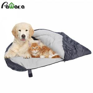 Dog Sleeping Bag Soft Fleece Winter Warm Pet Sleeping beds Polar Fleece Material Puppy Sofa Cushion Cat House Kennel Waterproof Y200330