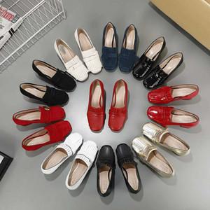 Sıcak satış bayan kısa topuklu ayakkabıları kız rahat patern deri ayakkabı açık akşam seksi siyah boyutu kırmızı çalışan ofis bayan pompalar 40 # GL13