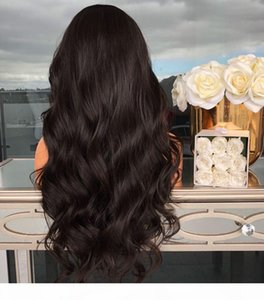 No Bad Smell Wish European and American Ladies Temperament Partial Big Wave Long Curly Hair Fluffy Black Wig Front Lace Chemical F
