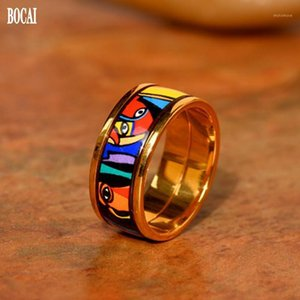 2020 New Bocai Girl Series New Cloisonne Jewellery Moda Anillo de esmalte para mujer Moda Mujer Ring1