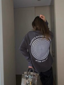 ERD disco di seconda generazione ricca malinconia stampa all over grido di aiuto manica lunga T-shirt
