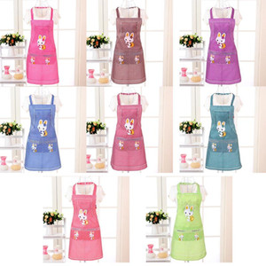 1PC Cooking Apron Cartoon Kitchen Sleeveless Double Pocket Household Cleaning Aprons for Adults Women Lady Cloth Protect