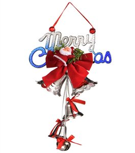 Natale campane albero di Natale ornamenti Santa Claus Bells regalo di Natale buon natale pendente DHL spedizione gratuita HWF2853
