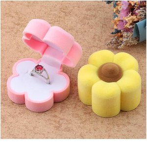1 Piece Lovely Flower Jewelry Box Velvet Wedding Ring Box Necklace Display Box Gift Container Case For Jewelry P jllktF