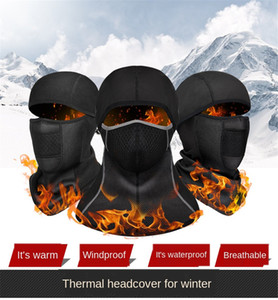 Outdoor Fleece Balaclava Motorcycle Face Mask Winter Ski Snowmobile Cap Bike Cycling Full Face Mask Motorbike Helmet Hat