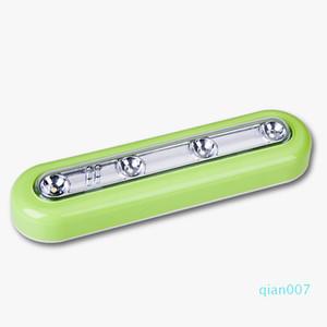 내각 푸시 탭 터치 스틱 램프 4 LED 밤 램프 비상 빛을 작업 DBC DH1181에서 LED 센서 터치 라이트 화이트 무선 배터리