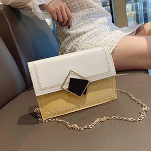 OLN Piccoli borse a borse a spalla catena a catena a tracolla da donna giallo PU morbido cuoio impermeabile messenger quadrato carino bag1