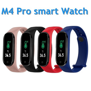 M4 Pro Smart Bracelet Thermometer New M4 Band IP67 Fitness Bracelet Sport Smart Band Fitness Tracker Heart Rate Blood Pressure