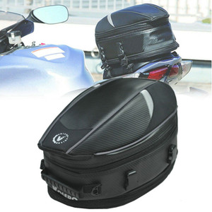 2021 New Motorcycle Riding Seat Tail Waterproof Helmet Bag Motorbike Saddlebags Expandable with Rain Cover 4 Colors 3hgh