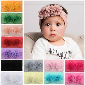 Hot sale Chiffon floral Baby Headbands cute princess Girls Headbands Head Bands Infants Newborn Hair Bands Children Little Girls Fashion Hai