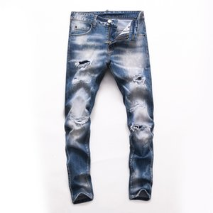 2021 High quality Mens designe jeans Distressed Motorcycle biker jeans Rock Skinny Ripped hole New Arrivals Famous Brand Jeans