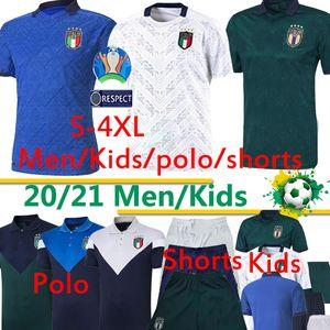 20 21 Coupe d'Europe Italie football Jersey 2020 2021 Jorginho EL Shaarawy BONUCCI INSIGNE BERNARDESCHI FOOTBALL polo short uniforme thaïlandais 4XL