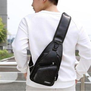 Waist Bags Anti Theft Chest Pack Male Shoulder Bag USB Charging Crossbody For Men Trip Messenger Single Strap Back