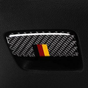탄소 섬유 보조 드라이버 보관함 트림 자동차 스티커 Mercedes A 클래스 CLA 2013-2018 GLA 2015-2018 액세서리