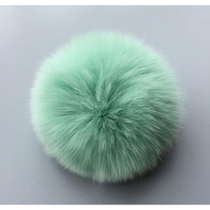 Original Factory Hot Sale Keyhains Accessory Real Rabbit Fur Ball Pom Pom Plush Bag Car Pendant Key Chain Eh642 F jllbca