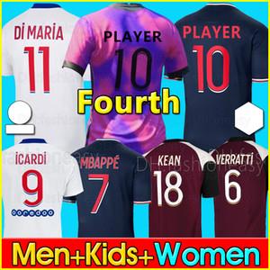 20 21 4TH PSG camiseta de fútbol 2020 2021 ICARDI camisa Paris Saint Germain NEYMAR JR MBAPPE soccer jerseys  Fourth camisa Survetement futebol kit CHAMPIONS camisa de futebol