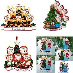 PVC Noel Süsler 2020 kolye Noel ağacı Five Star Noel Baba Süsleri Karantina Kolye DIY Adı 5 99zb G2 Maske Sivri