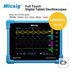 Micsig-Oscilloscope Tablette Numérique, 100MHz 2CH 4ch, 오실로스코프 Portatif, 오실로스코프 자동차 To10001
