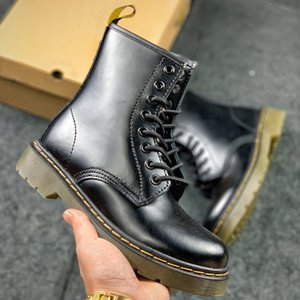 dr martin boots doc martins martens Dr martin сапоги 1460 черно - белое серебро вишня красная мода зимние сапоги платформа обуви лодыжка кожаные привязки д - р сапоги коробка