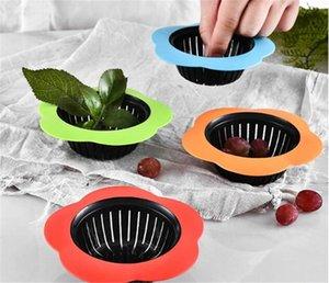 Flower Shape Silicone Sink Strainer Shower Sink Drains colander Sewer Hair Filter Kitchen Accessories