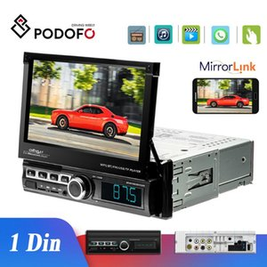 Podofo 1 Din Car Radio Autoradio 7''Touch Screen Car Multimedia Player Mirror Link Auto MP5 Bluetooth USB FM AUX
