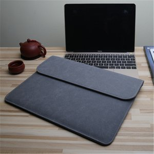Matte Magnetic Buckle PU Laptop Sleeve Bag For Xiaomi Macbook Pro 13 Case Air 11 12 New 15 16 Touch  ID Bar Women Men Cover 201006