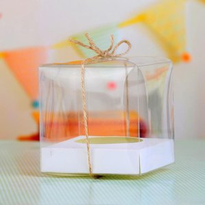 Transparent Cupcake Boxes 9*9*9cm Single PVC Cupcake Box Wholesale Muffin Box for Party