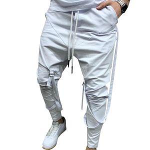 Solid Pants for men Joggers Casual Sweatpants Long Elastic Waist Drawstring Men Harajuku Trousers Clothing Harem Pants