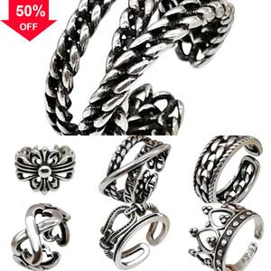 FTk6T Buttons Chain Fashion Cross Chunks ring Metal high waist cross Ginger Noosa Snap Link Pendant Necklace Women Men Cross Jewelry