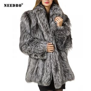 NEEDBO искусственного меха Пальто женщин Teddy куртки пальто Streetwear Осень Зима теплая куртка из искусственного меха Верхняя одежда Женский меха Пушистый жакет 201016