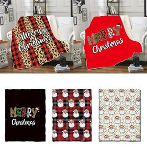 Рождество Одеяло для детей 3D печати Толстой Sherpa Одеялки Мягких теплого диван Throw Blanket Спящих Одеяло Одеяло 130 * 150см DHA2155