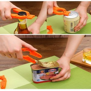 Multifunctional manual antiskid canned beverage camper plastic can opener accessories