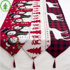 рождественские скатерти Санта-Клаус Red Hat для Dinner декора дома украшения украшения Принадлежности обеденный стол Party Decor GWB2068