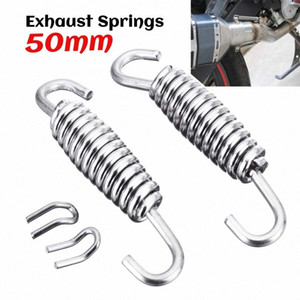 2pcs 50mm 60mm 64mm Motorcycle Exhaust Pipe Muffler Mounting Spring Hooks Link Pipes Stainless Steel 1WkB#