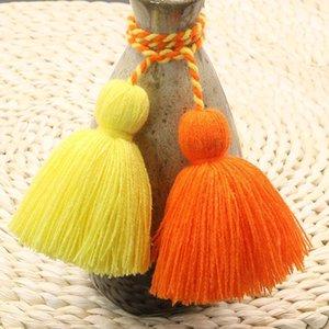 4pcs Charm Fat Tassel Fringe Pendentif Corde DIY Home Rideau Textile Artisanat Accessoires Suspending Tassels Multicolore Frange Trim H Jllucd