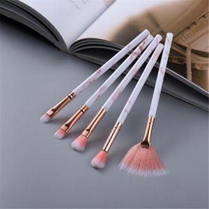 Marble Micro Eye FLD maquillage Pinceaux fard à paupières fond de teint Brosses Kit Brochas De Maquillaje Beauté pour cosmétiques
