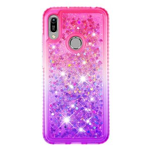2021 Venta caliente Anti-Otoño Impermeable Side Taladro PLUS PLUS PRINCIPIO Color Quicksand TPU Teléfono Móvil para Huawei Honor 8A Y6 2019 Y6Pro Y6PRIME