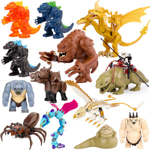 Single Sell Movie Series Troll Dewback Rancor Jabba Cerberus Big Size Building block Anime Figures Toys For Kids