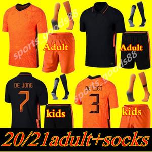 Yetişkin ve Çocuk Kiti 2020 2021 Hollanda Futbol Formaları Hollanda Futbol Takım Gömlek 20 21 de Jong Virgil Memphis Set Üniforma Gömlek Promes
