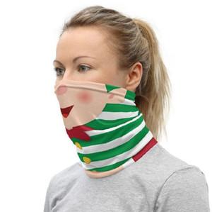 Decoração de Natal protetor facial Chirstmas Bandana face Outdoor Sports Magia Lenço na Cabeça Headband Visor Neck Gaiter GGE1694 presentes máscara do partido