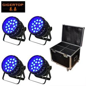 TIPTOP 4IN1 Flightcase Pacote 18x12W 4em1 impermeáveis Cans LED PAR Tyanshine Par Zoom Led Light Freeshipping 5/9 canais duplos