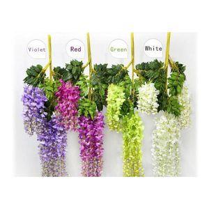 7 Colors Elegant Artificial Silk Flower Wisteria Flower Vine Rattan For Home Garden Party Wedding Decoration 75cm And jllKxx bdebag