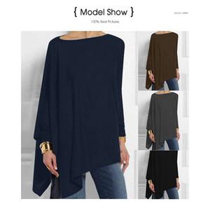 Jocoo Jolee Women Causal Long Sleeve Cotton Blouse Spring Loose Irregular Shirt Female Solid Sweatshirt Female Tops Pullover 8 colors 8 yard