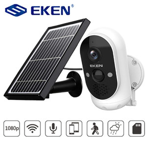 EKEN استرو 1080P بطارية الكاميرا مع كاميرا شمسية IP65 WIFI مانعة لكشف الحركة لاسلكي الأمن IP