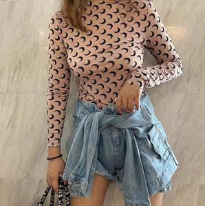 Cin nuovi amanti Camicie donna Marine Serre pantaloni casuali t-shirt manica corta X Sesame Street vestiti L di moda T outwear tee top della qualità