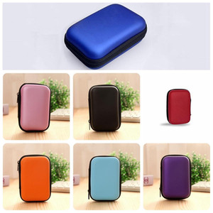 Wholesale Cable Charger Storage Bag Mini Portable Earphone Storage Box Key Coin Purse Shockproof Mini Bags Makeup Organizer DH0861 T03